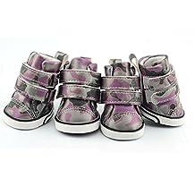 Dofull Abrasion camo PU pet shoes leather stick shoes(DSN26)-Xlarge purple