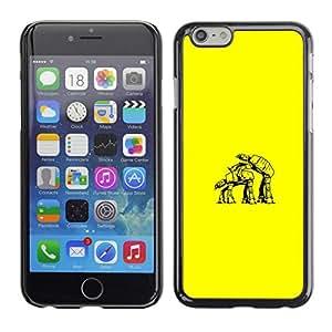 Caucho caso de Shell duro de la cubierta de accesorios de protección BY RAYDREAMMM - Apple Iphone 6 Plus 5.5 - Estrella Walker Amor divertido