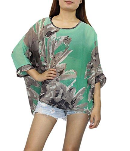 Hippie de Mousseline Cover Imprimee Manche Femme Souris Bain Boheme Floral Maillots Tunique Cache Caftan 3 Top Chauve Soie Blouse Haut Plage en Chic de Up Chemise 4 de Multicolore 36 Beachwear Mode Kimono Bikini Rxq0Wv5