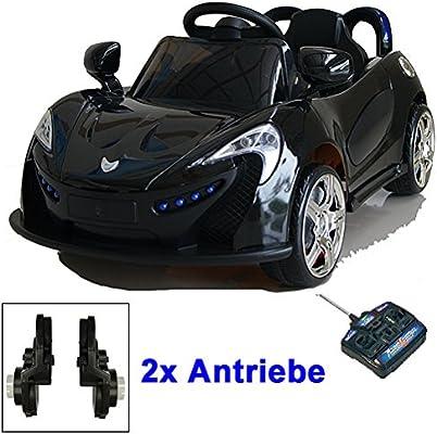Roadster mit 2x Motoren mp3 LED Elektro Kinderauto Kinder Auto Elektroauto ROT