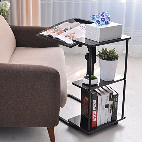 unicoo multi function height adjustable overbed table