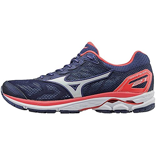Mizuno Women's Wave Rider 21 Running Shoe Patriot Blue-White outlet low shipping fee sale authentic exclusive cheap online 3k5MT