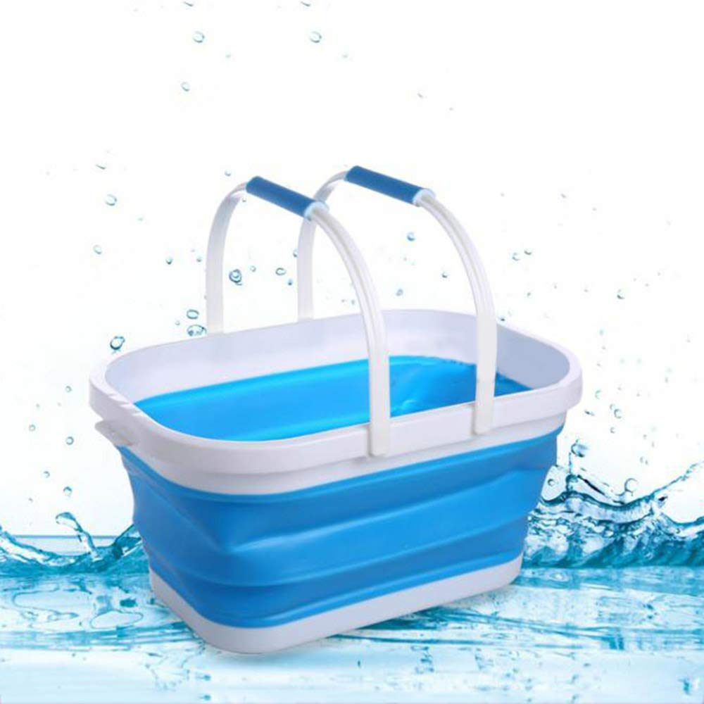 Collapsible//Foldable//Portable Silicone Dish Tub Basket with Handle for Fruit Vegetables Snacks Drinks Storage
