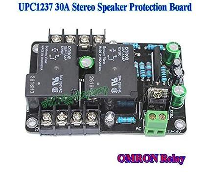 FidgetFidget Stereo Speaker Protection Board OMRON Relay AC 12V~16V on