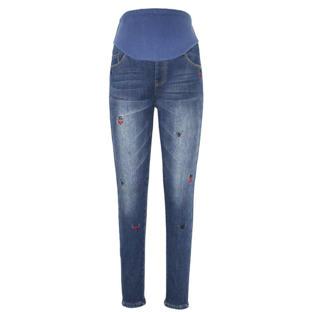 zenicham Women's Fleece-Lined Denim Skinny Jeans with Adjustable Elastic Belt ZM-YF1145