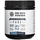 Bone Broth Protein Powder 16oz, Grass Fed Beef - Unflavored, Paleo Friendly, Gut-Friendly, Non-GMO, Dairy-Free Protein Powder. Rich in Collagen, Glucosamine & Gelatin, Left Coast Performance