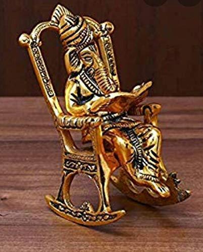 Navdurga Lord Ganesha Reading Ramayana Statue Hindu God Ganesh Ganpati Sitting on Chair Idol Sculpture Home Office Gifts…