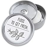 Doctors Floss Mint Dental Floss Pack | Refillable Holder & Dispenser | Eco-Friendly Packaging | Vegan Tooth Floss Oral Health Care Kit | 220 Yards (2x100m) (Pure White)