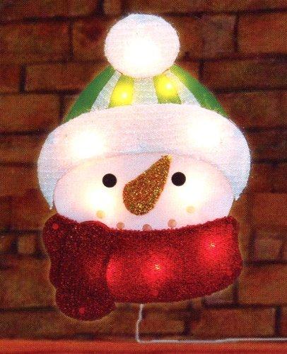 "Impact 15"" Lighted Tinsel Snowman Christmas Window Silhou..."