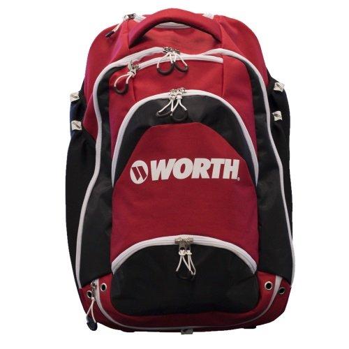 Worth XL野球/ソフトボールWheeledバックパックBat Bag B071L1XF8B レッド/ブラック レッド/ブラック