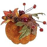 Beaded 6 Inch Acorn Berry Styrofoam Fall Harvest Tabletop Pumpkin