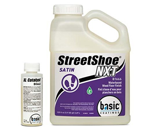 - Basic Coatings STREETSHOE® Waterbased Wood Floor Finish Satin 1 Gallon