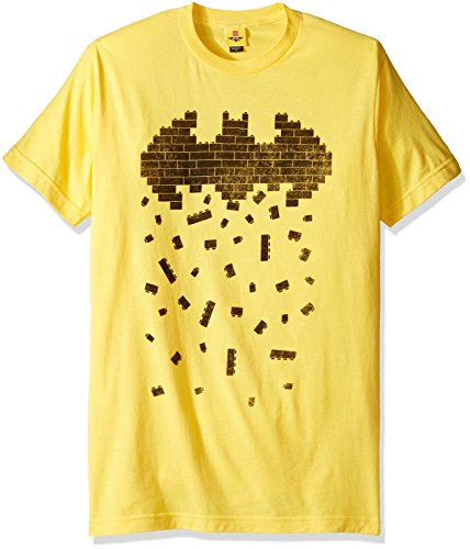 Lego Men's Batman Symbol Crumbling Bricks Short Sleeve T-Shirt at Gotham City Store