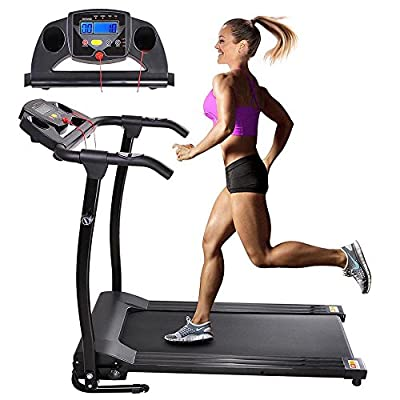 AW 1100W Folding Electric Treadmill Portable Power Motorized Machine Running Jogging Gym Exercise Fitness Black
