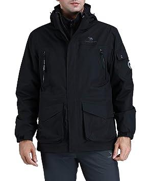 CAMEL CROWN Chaquetas Cortavientos Hombre Invierno, 3 en 1 Impermeable Chaqueta de Esquí de Lana Abrigo Deportivo para Senderismo Esquiar: Amazon.es: ...