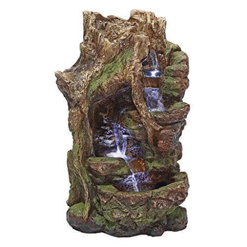 Water Fountain with LED Light - Willow Bend Garden Decor Fountain - Outdoor Water Feature