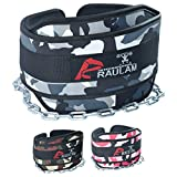 """Dip Belt with 36"""" Extra length Heavy Duty Chain, Comfort Fit Neoprene, Double Stitching Maximize your Weightlifting & Bodybuilding Workouts with Durable Dipping Belt, Extra Padding (Gray Camouflage)"""
