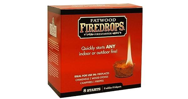 Amazon.com: Fatwood Firestarter 8808 8 Count Fire Drop ...
