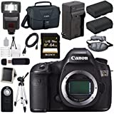 Canon EOS 5DS 5D S DSLR Camera + LPE-6 Lithium Ion Battery + External Rapid Charger + Canon 100ES EOS shoulder bag Bundle 2