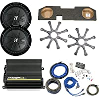Kicker for Dodge Ram Quad / Crew Cab 02-15 - Dual 12 CompR subs in box, 600 Watt CX Amp, Grilles & Wire Kit
