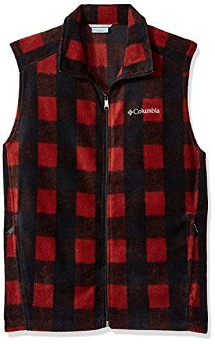 Columbia Men's Cascades Explorer Full Zip Fleece Jacket, Deep Rust Plaid, Medium
