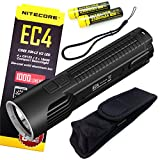 Nitecore Explorer Series EC4 1000 Lumens Die-Cast Flashlight Searchlight Torch With 2 Pieces NL183 2300mAh 18650 Batteries