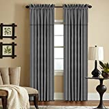 Veratex York Collection Contemporary Style 100% Linen Bedroom Rod Pocket Fastener Style Curtain, 105″ Long, Dark Teal Review