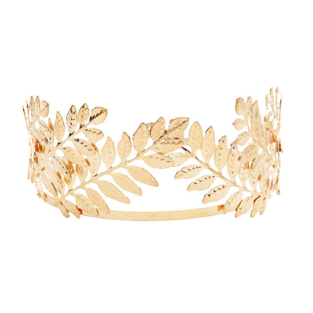 Gold//Sliver Leaves Style Alloy Wedding Bridal Crown Tiara Bride Hair Accessory