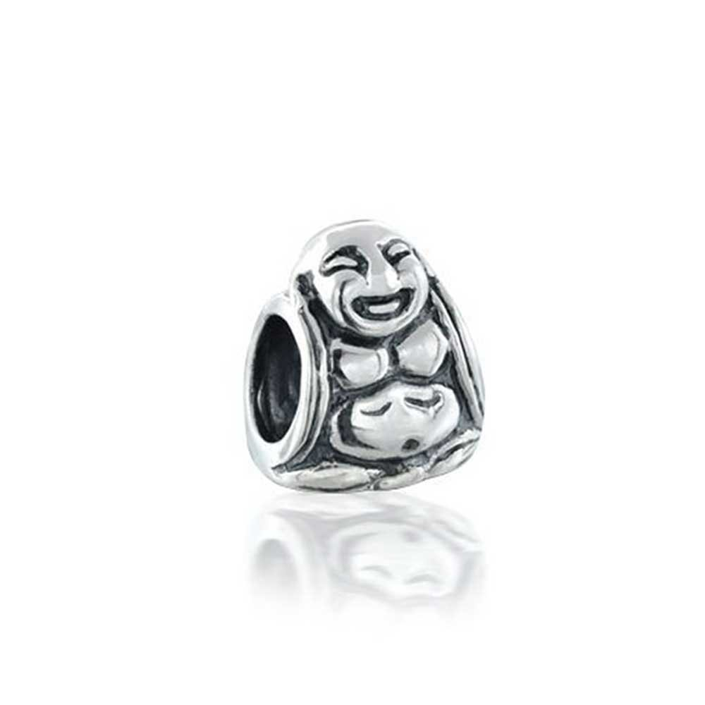 925 Sterling Silver Happy Buddha Bead Charms Bling Jewelry PBX-UEC-2-16