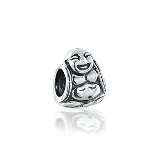 c1670f335 Image Unavailable. Image not available for. Color: Asian Laughing Buddha  Spiritual Mediation Charm Bead For Women 925 Sterling Silver Fits European  Bracelet