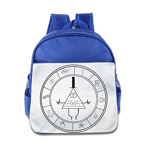 HYRONE Gravity Symbol Mysteries Falls Kids Children School Bag Backpack For 1-6 Years Old RoyalBlue
