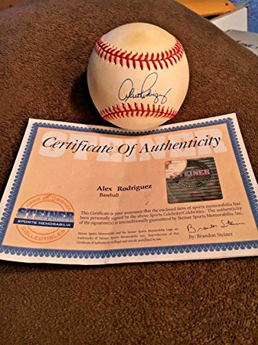 Alex Rodriguez Autographed Signed Official Major League Baseball Case Steiner Coa - Authentic -
