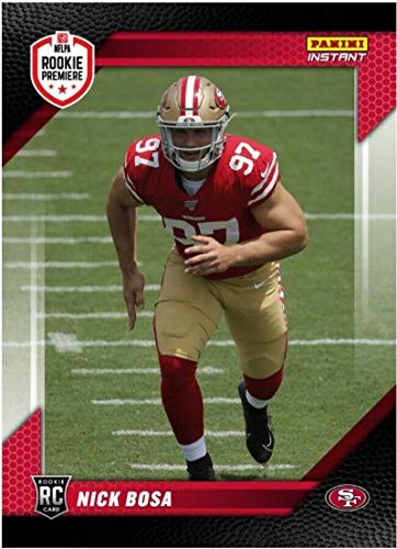 2019 Panini Instant RPS Rookie Premiere 1st Look #FL2 NIck Bosa San Francisco 49ers RC Official NFL Football Trading Card Only 142 Made from Instant
