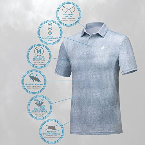 4038c97b Jolt Gear, Mens Dry Fit Golf Polo Shirt, Athletic Short-Sleeve - Import It  All