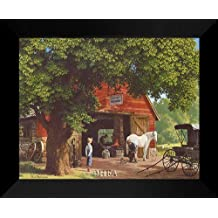 "Paul Detlefsen FRAMED Art 20x24 ""Horse And Buggy Days"""