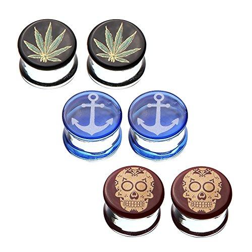 sugar skull plugs 0g - 9