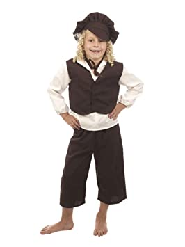 Victorian Poor Boy Costume Oliver Twist Book Week Day Fancy Dress Child Outfit