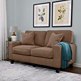 "Best Loveseats - Serta RTA Palisades Collection 61"" Loveseat in Fawn Review"
