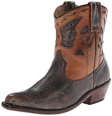 Bed Stu Women's Filly Western Boot,Black/Tan,9.5 M US