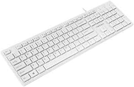Natec Keyboard Discus Slim White, USB, US Layout: Amazon.es ...