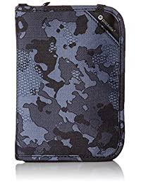 Pacsafe RFIDsafe V150 Anti-Theft RFID Blocking Compact Passport Wallet, Grey Camo
