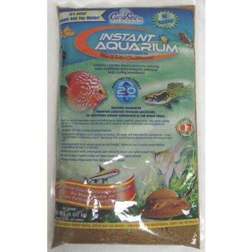 Carib Sea Instant Aquarium Sunset Sand in Gold (40 lbs) [Set of 2]