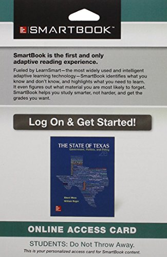 SmartBook Access Card for The State of Texas: Government, Politics, and Policy