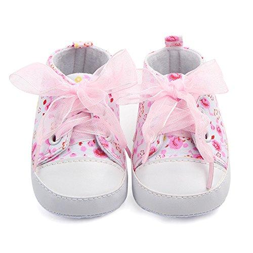 qseven Baby Mädchen Schuhe Träger Baby Kleinkind Schuhe rutschfeste Schuhe (Rosa, Lila, Blau) pink13