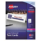 #4: Avery 5309 Large Embossed Tent Card, White, 3 1/2 x 11, 1 Card/Sheet (Box of 50)