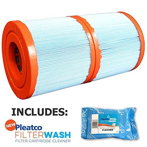 (Pleatco Cartridge Filter PWW10-JH-PAIR Waterway Skim Filter10 817-0010 10146949 25249 378900 (Antimicrobial) w/ 1x Filter Wash)