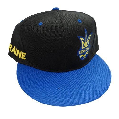 (Ukraine Black & Blue Fifa World Cup Flag Hip Hop Hat Cap.. Great Quality Adult .. New)