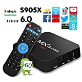 Globmall MXQ PRO Android TV Box, Amlogic S905X 64 Bits Android 6.0 TV Box, 4K Playing