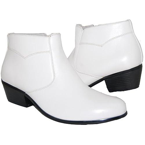White Diamonds Cuban Heel Boot, Men, White, Size, 6: Amazon