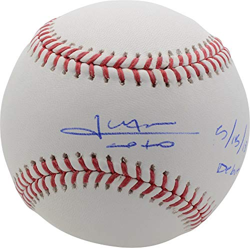 "Juan Soto Washington Nationals Autographed Baseball with""5/15/18 Debut"" Inscription - Fanatics Authentic Certified"